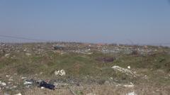Pollution, garbage dump, landfill, trash,construction & demolition waste, litter Stock Footage