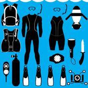 Scuba set Stock Illustration