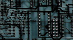 Circuit Board (Blue Black Slow Blur - Long Play) pcb In - Out 720p Stock Footage