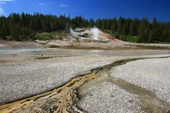 Thermal hot springs in yellowstone national park Stock Photos