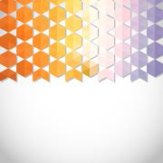 Abstract background banner of hexagon Stock Illustration