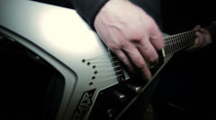 Rocker with an electric guitar Stock Footage