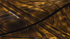 Evening Light Aerial View Busy Crowd Dubai Skyline Traffic Busy Street Rush Hour Stock Footage