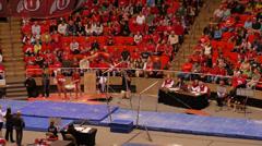 Gymnastic bars Stock Footage