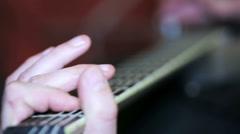 Guitarist plays, close up Stock Footage