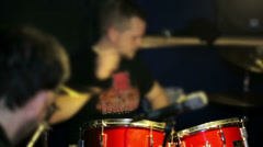 A drummer on the recording studio Stock Footage