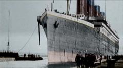 Titanic Original Historical Coloured 3a - Belfast - Circa April 1912 Stock Footage