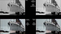 Overview Titanic Original Historical Coloured 3 - Belfast - Circa April 1912 Stock Footage