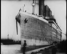 Titanic Original Historical Cleaned 5 - Belfast -Circa April 1912 Stock Footage