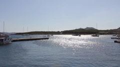 Harbor in sardinia Stock Footage