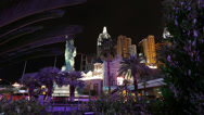 Stock Video Footage of Las Vegas Timelapse - New York, New York through trees