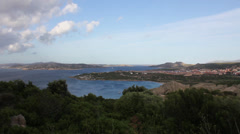 View over Corsica Stock Footage