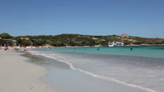 Beautiful beach in sardinia Stock Footage