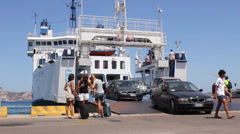 Ferry in Sardinia Stock Footage