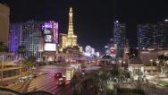 Stock Video Footage of Las Vegas Timelapse - busy intersection at night