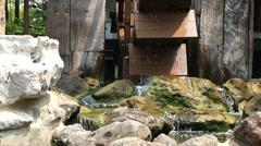 Wood Water wheel turbine Stock Footage