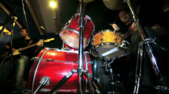 A drummer on the pratice room Stock Footage