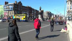 Dublin City Traffic 1 Stock Footage
