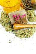 marijuana, medical and recreational marijuana industry in america - stock photo