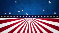 Stock Video Footage of Stars and stripes animated background