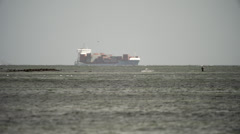 Cargo Ship Baltic Sea Kiel 1 Stock Footage