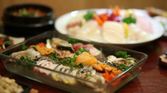 Sashimi Set focus follow - stock footage