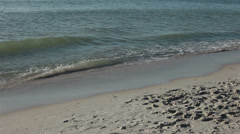 Waves and surf on Florida beach HD 2025 Stock Footage
