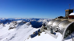 View from the zugspitze, germany, bavaria Stock Footage