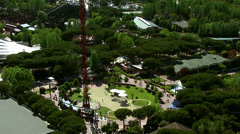 Close up of amusement ride in Casa de Campo Park Stock Footage
