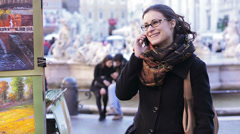 Happy Woman using The Smart Phone - stock footage