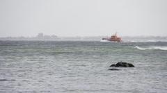 Pilot Boat Baltic Sea Kiel Stock Footage