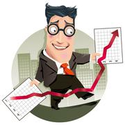 Made up accounts - stock illustration