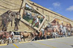 lake placid ,florida-december 30: lake placid is town of murals - stock photo