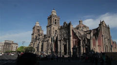 Mexico City Metropolitan Cathedral - stock footage