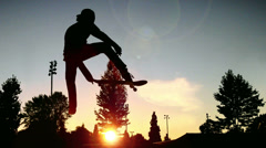 Man skating in the skate park - stock footage