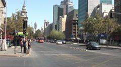 Stock Video Footage of 1279  Chile Santiago, Alameda Avenue