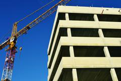 Construction of modern urban commercial architecture Stock Photos