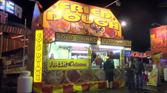 Carnival food stand Stock Footage