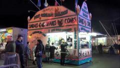 Carnival Ice Cream Stock Footage