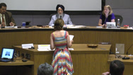 Stock Video Footage of council meeting citizen5 speaking