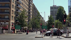 Stock Video Footage of 1281  Chile Santiago, Alameda Avenue