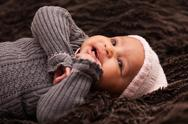 Stock Photo of adorable little african american baby girl - black people