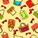 Stock Illustration of vector collection of woman's accessories. seamless wallpaper.