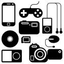 Stock Illustration of icon set of electronic gadgets