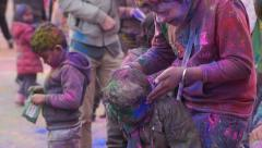 Holi Festival / Color Run Stock Footage
