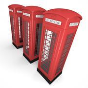 Three phone booths - stock illustration