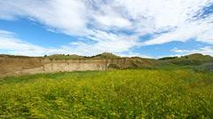 Sage Creek Grassland Badlands Stock Footage