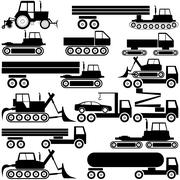Special cars  technique. vector Stock Illustration