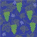Stock Illustration of eps 10 seamless wallpaper with floral ornament with leafs and grapes