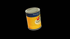 Cans animation pack 3 in 1 with alpha screen 9 sec for loop Stock Footage